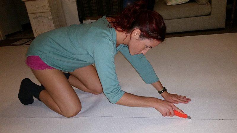 Floor marking and cutting vanlife build