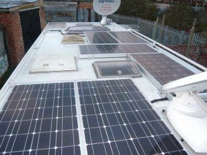 roof mounted solar panels