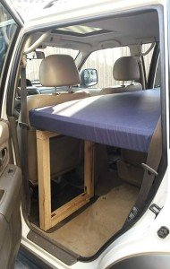 1 passenger side of Montero Sport camper conversion