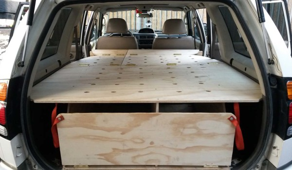 How to: Convert a SUV wagon into a camper the cheap and easy way