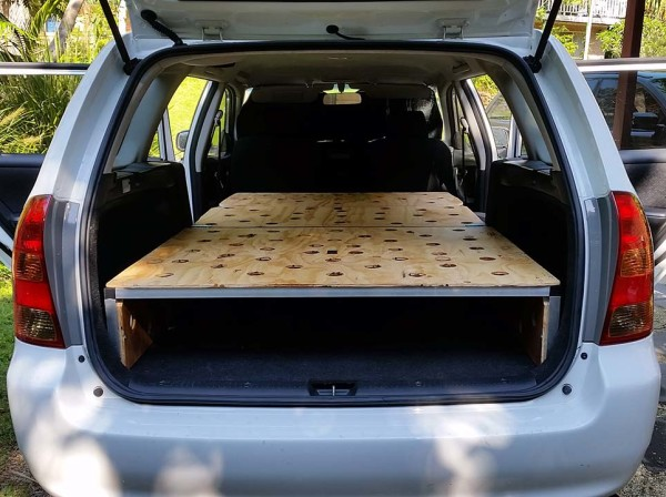 Under the radar: Toyota Corolla wagon camper conversion